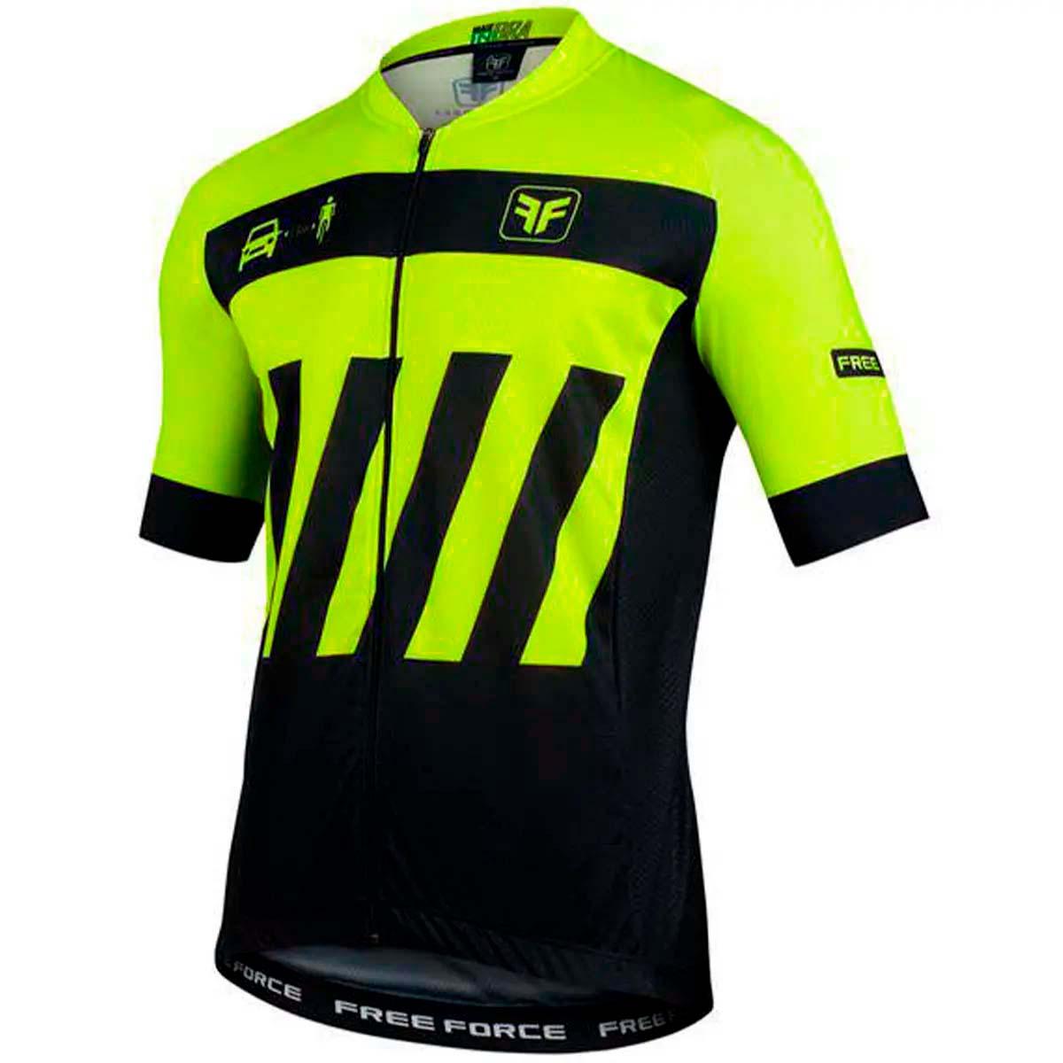 Camisa Freeforce Masculina Sport Transit Amarela Fluor e Preta Ciclismo 21