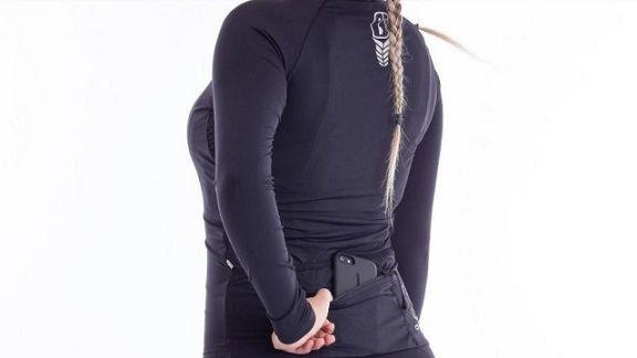 CAMISA MANGA LONGA AHAU FEMININA AUSSIE DARK PRETA