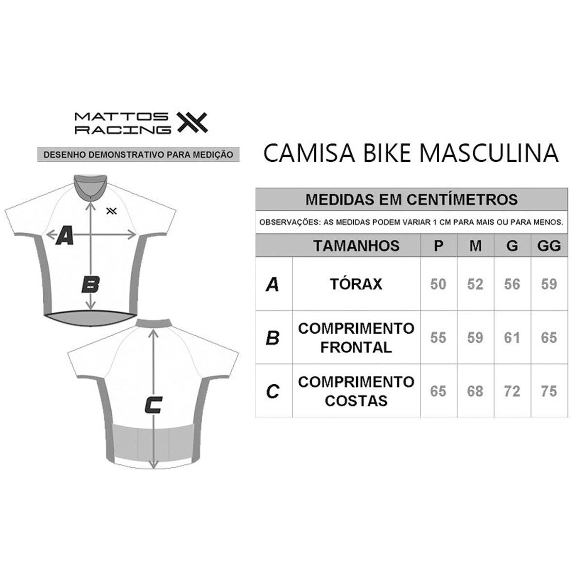 CAMISA MATTOS RACING BIKE POINTS PRETA E BRANCA CICLISMO 21