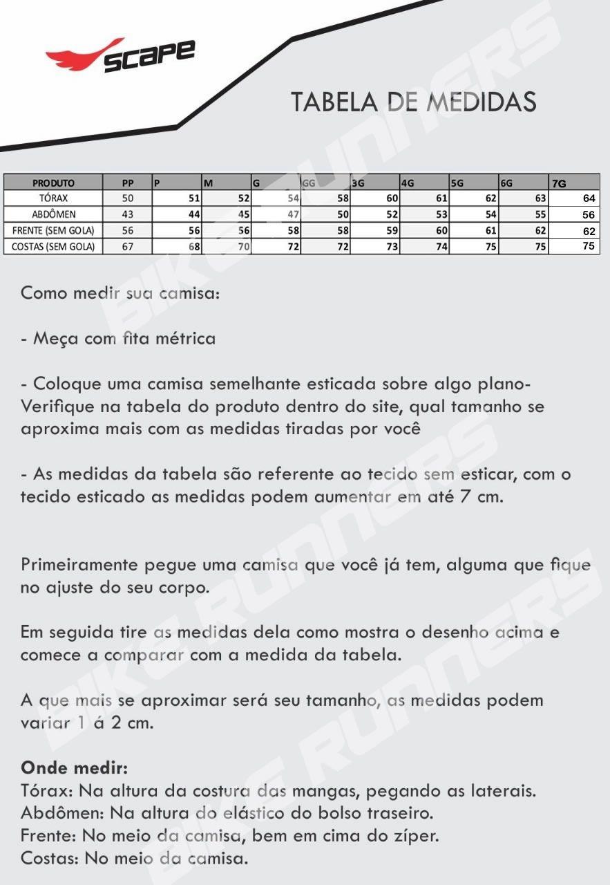 CAMISA SCAPE JUSTICEIRO PRETA E BRANCA - CICLISMO