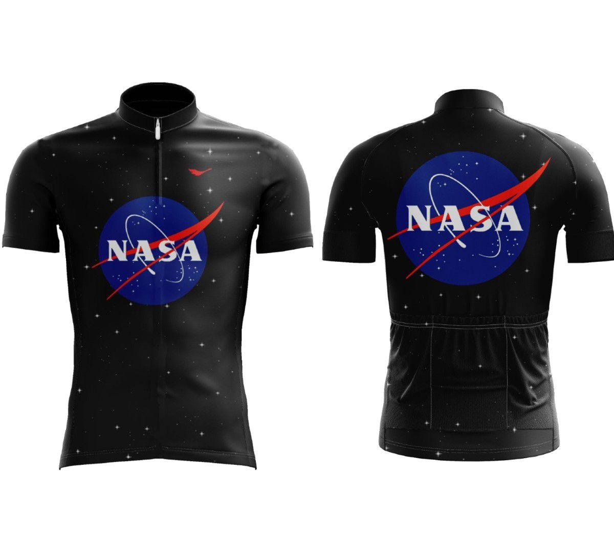 CAMISA SCAPE NASA PRETA E AZUL CICLISMO