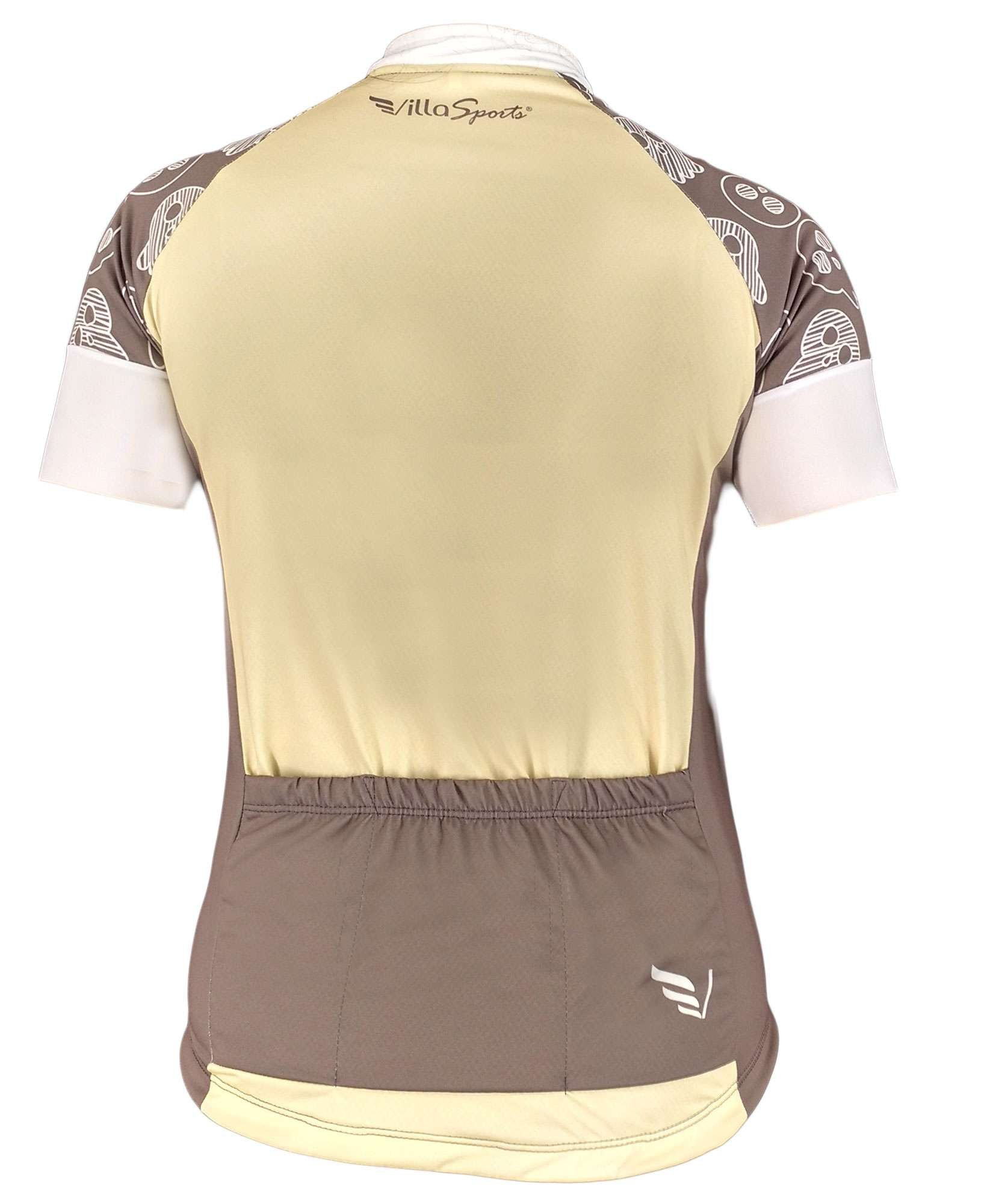 CAMISA VILLA SPORTS FEMININA BABY BIKE FUN F69 BEGE