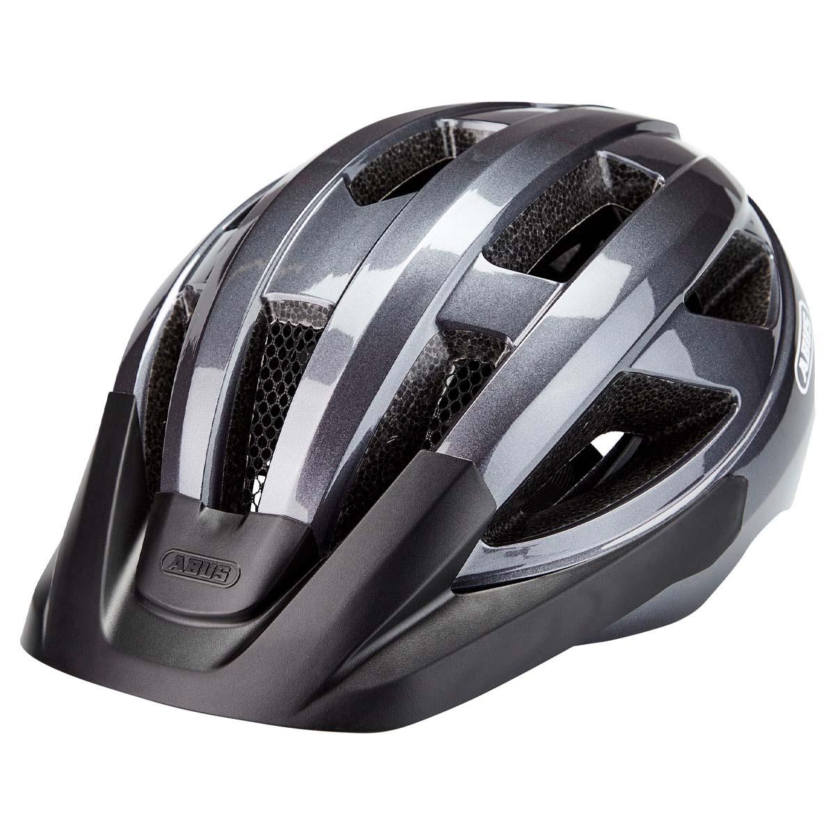 Capacete Abus Macator InMold Cinza Titanio Ciclismo 21