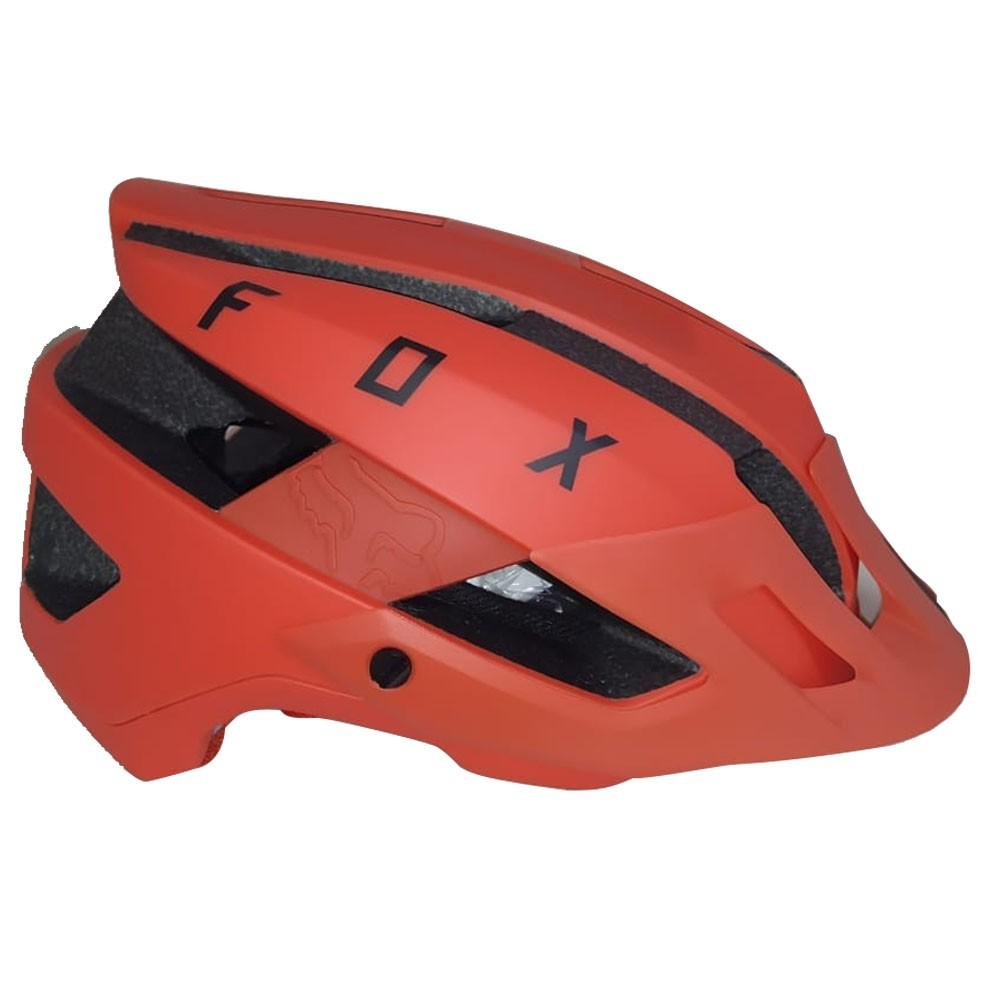 CAPACETE FOX FLUX SOLID LARANJA CRUSH 20 CICLISMO