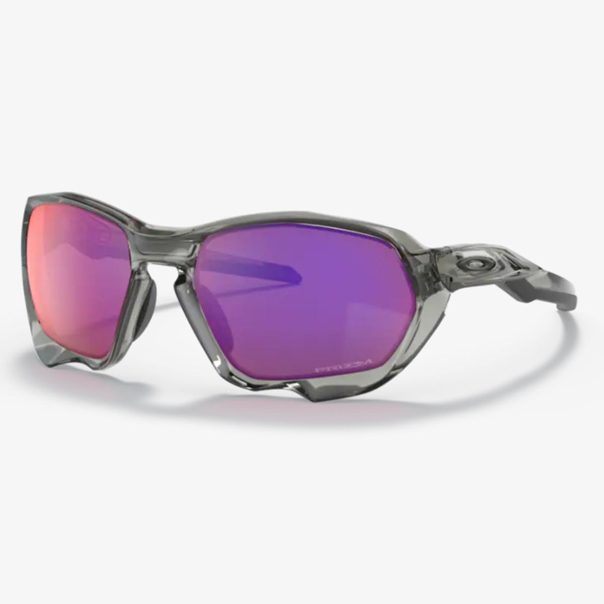 Oculos Para Ciclismo Oakley Plazma Cinza Acrilico Com Lente Prizm Road Espelhada Vermelha