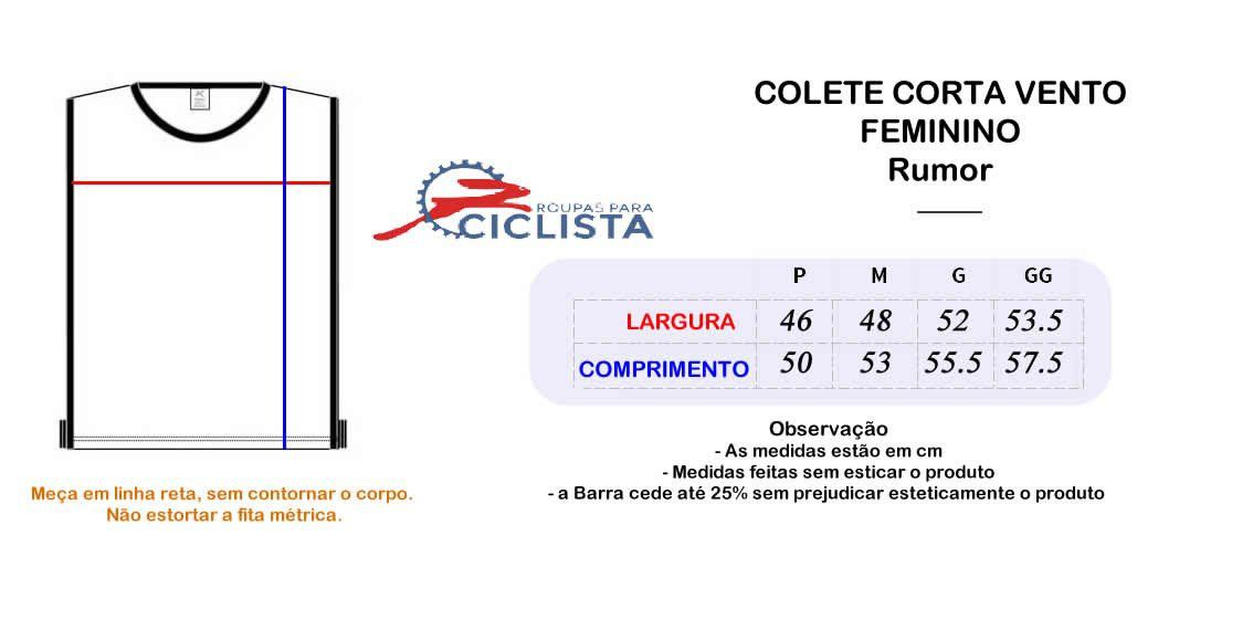 COLETE CORTA VENTO RUMOR FEMININO CINZA