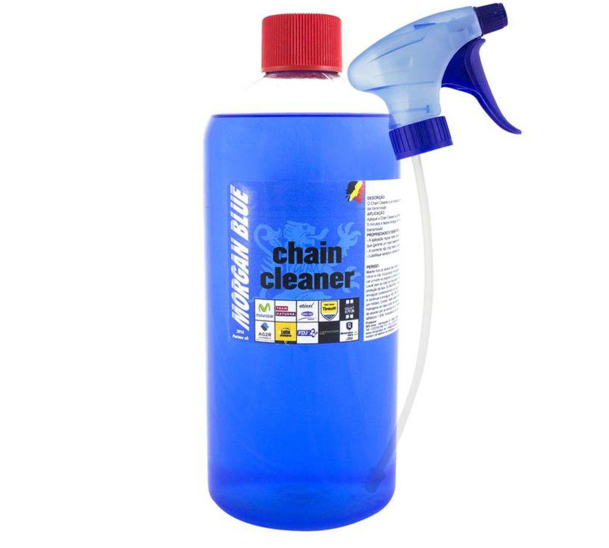 DESENGRAXANTE MORGAN BLUE CHAIN CLEANER 1L DETERGENTE COM BICO APLICADOR