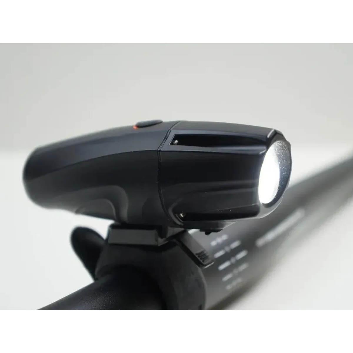 FAROL DIANTEIRO ABOLUTE JY-7026 PRETO COM LED 1000 LUMENS CARGA VIA USB - ISP