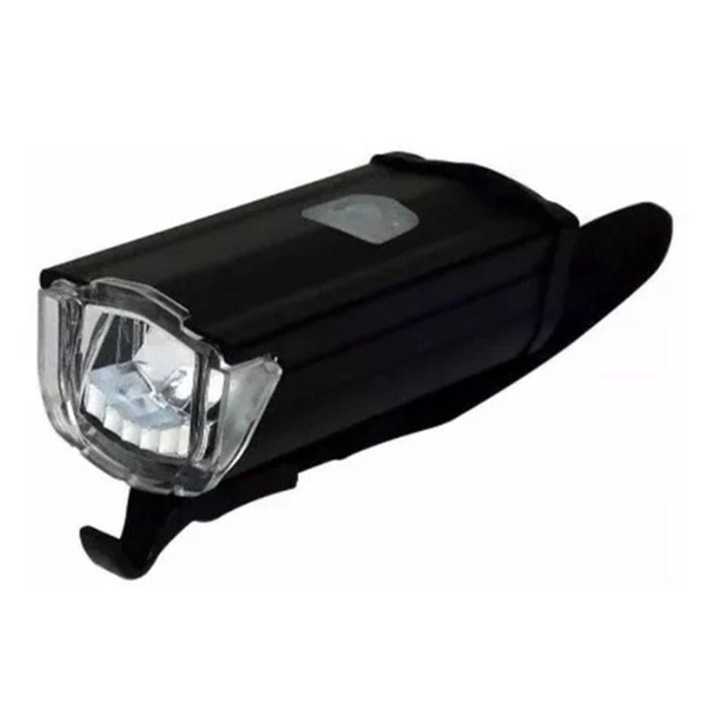 FAROL DIANTEIRO ABSOLUTE JY-7040 ALUMINIO PRETO LED CARGA VIA USB 200LM - ISP