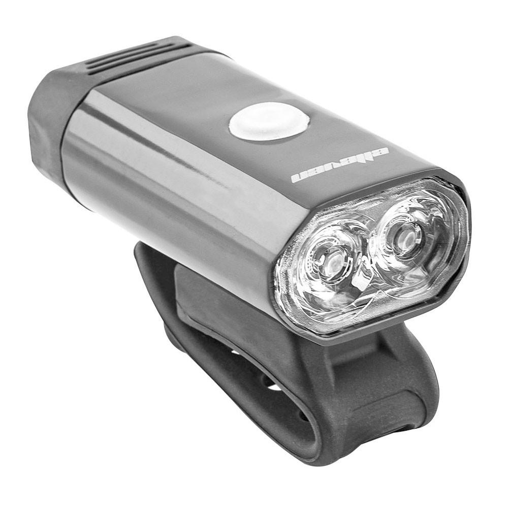 FAROL DIANTEIRO ELLEVEN 2 LEDS 5W PRETO CARGA VIA USB