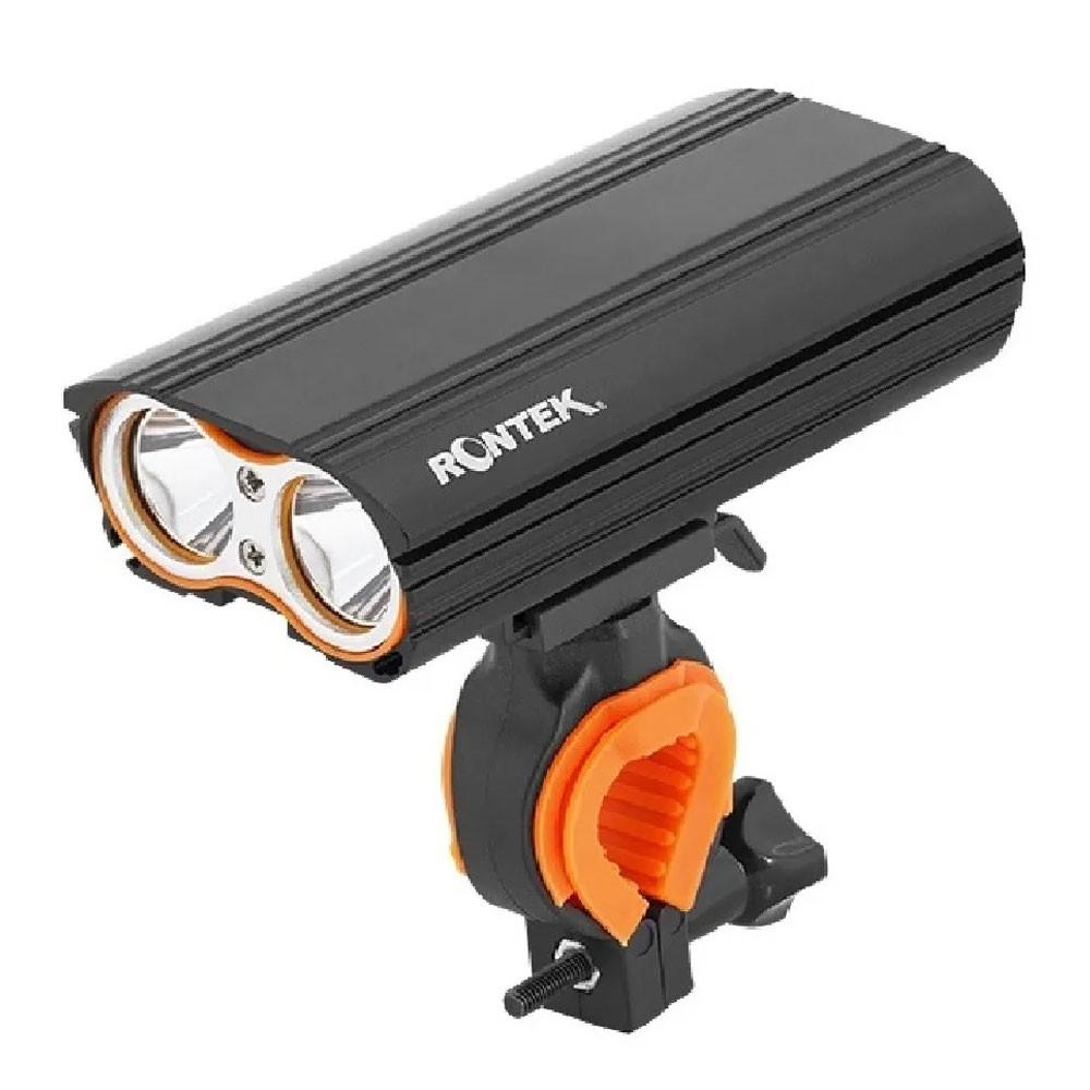 FAROL DIANTEIRO RONTEK BLT-031 EAGLE 2 LEDS 1000 LUMENS CARREGA VIA USB PRETO