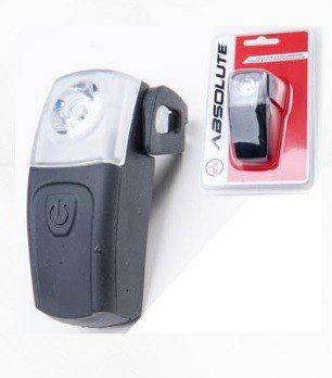 LANTERNA TRASEIRA ABSOLUTE SILICONE PRETO 1 LED RECARREGA VIA USB - ISP