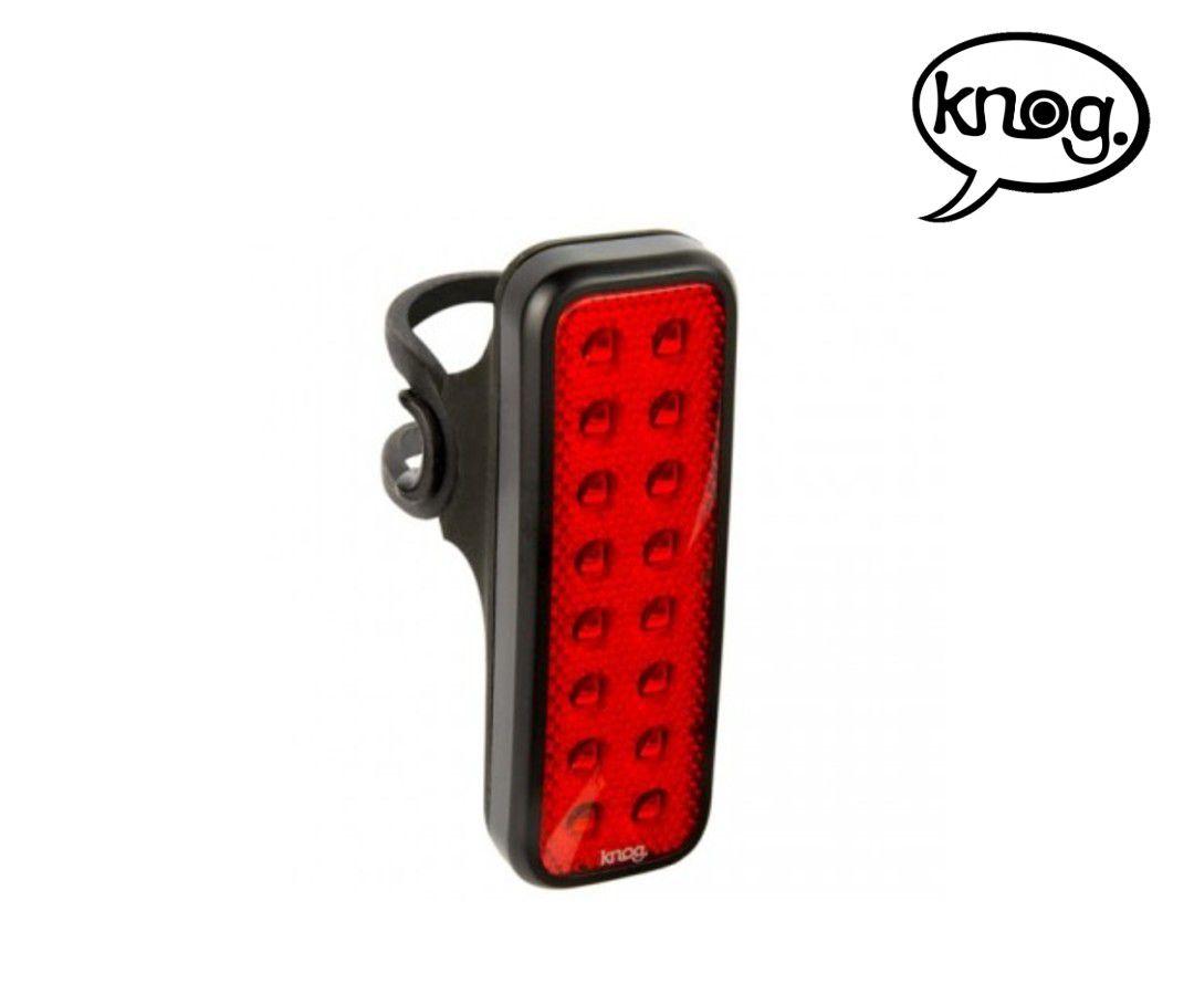 LANTERNA TRASEIRA KNOG BLINDER MOB V KID GRID PRETA CARGA VIA USB 44 LUMENS 53 HORAS