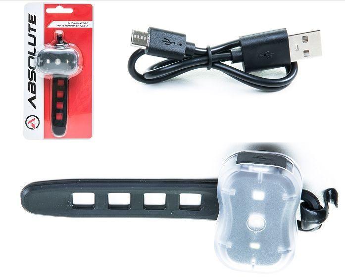 LANTERNA TRASEIRA OU DIANTEIRA ABSOLUTE PRETO JY-7050 - CARREGA VIA USB - ISP