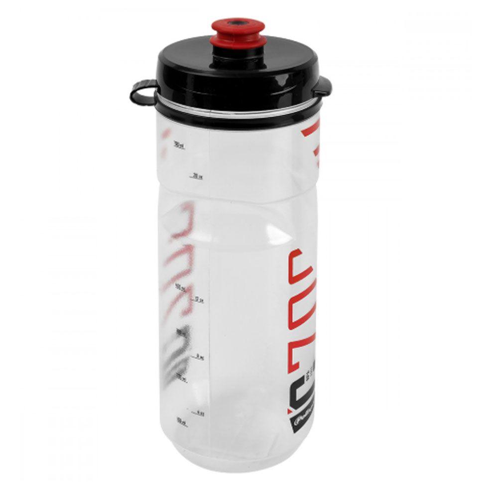 GARRAFA POLISPORT C700 BPA FREE TRANSPARENTE E VERMELHO 700ML