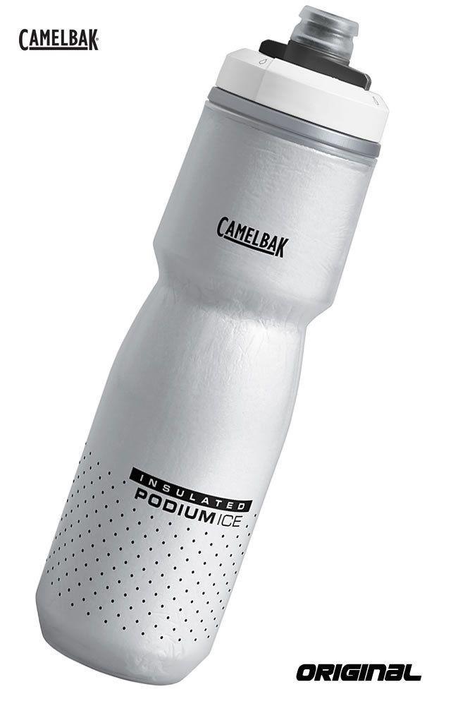 GARRAFA TERMICA CAMELBAK PODIUM ICE CINZA E PRETA 2019 620 ML