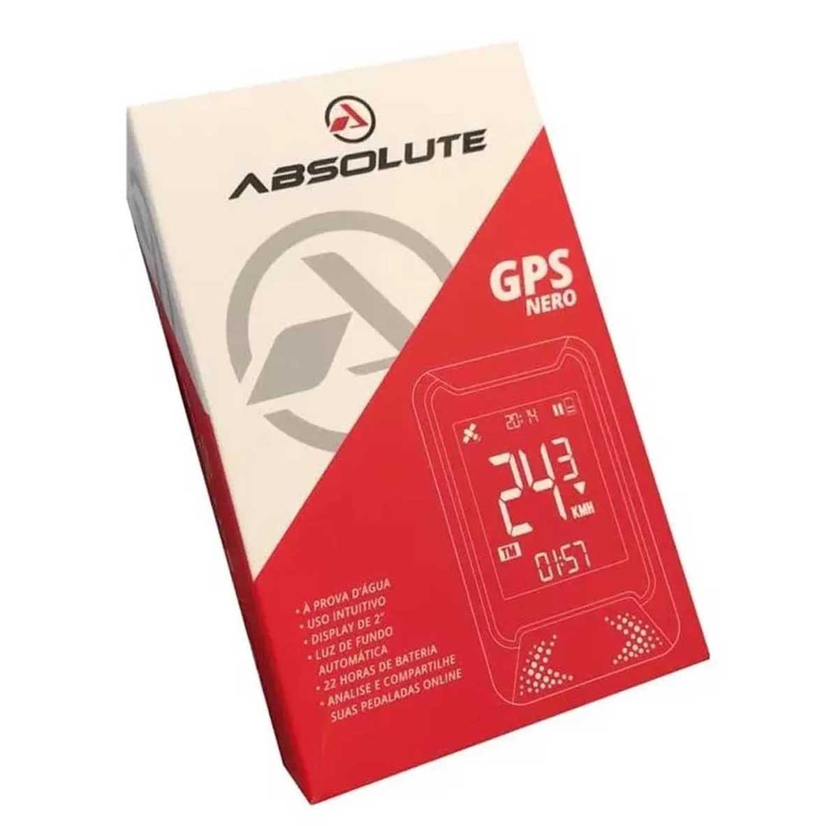 GPS ABSOLUTE NERO PRETO SINCRONIZA COM STRAVA