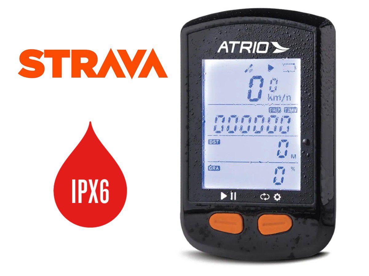 GPS ATRIO STELL PARA CICLISMO COM SENSOR DE CADENCIA22 HORAS SUPORTA CINTA IPX6 RESISTENTE A AGUA - BI132