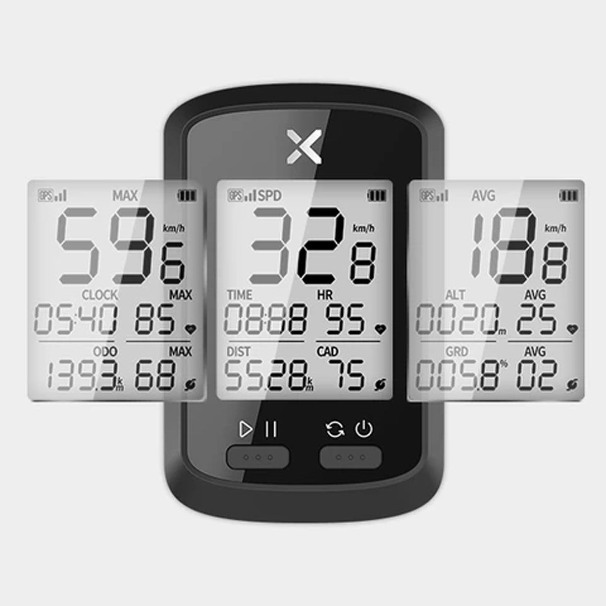GPS XOSS G+ COM SENSOR DE CADENCIA CONECTA STRAVA 15 FUNCOES