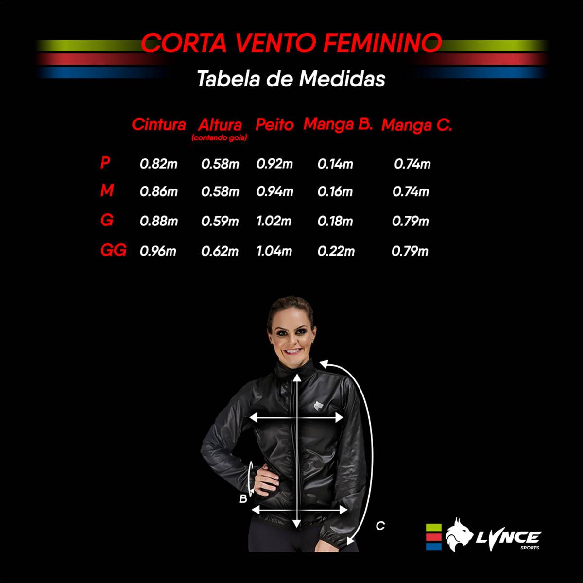Jaqueta Corta Vento Lynce Feminina Rose Titanium com Ziper Refletivo Rosa Nude Ciclismo