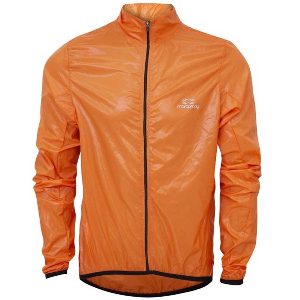 Jaqueta Corta Vento Marcio May Masculina Pro Laranja Ciclismo 21