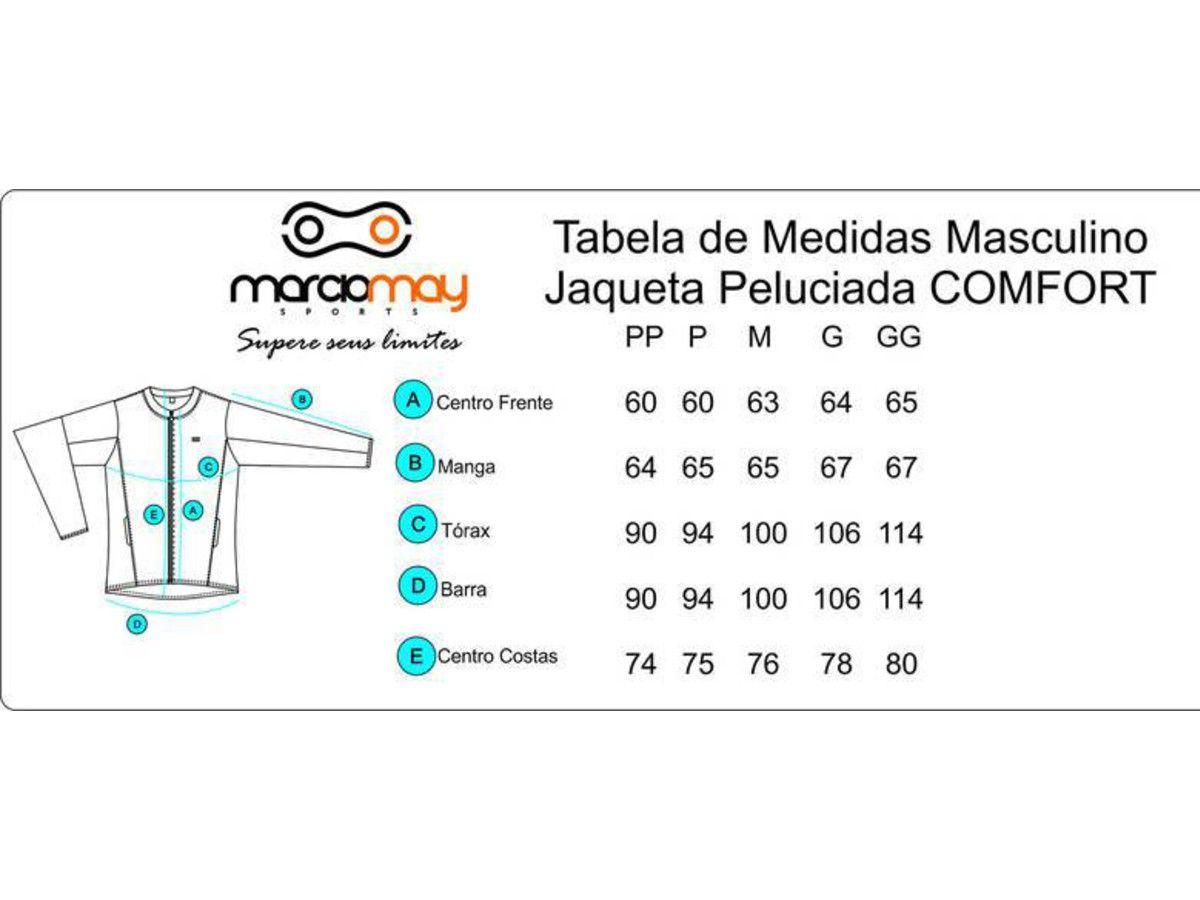 JAQUETA MARCIO MAY MASCULINA PELUCIADA COMFORT PRETA CICLISMO 19
