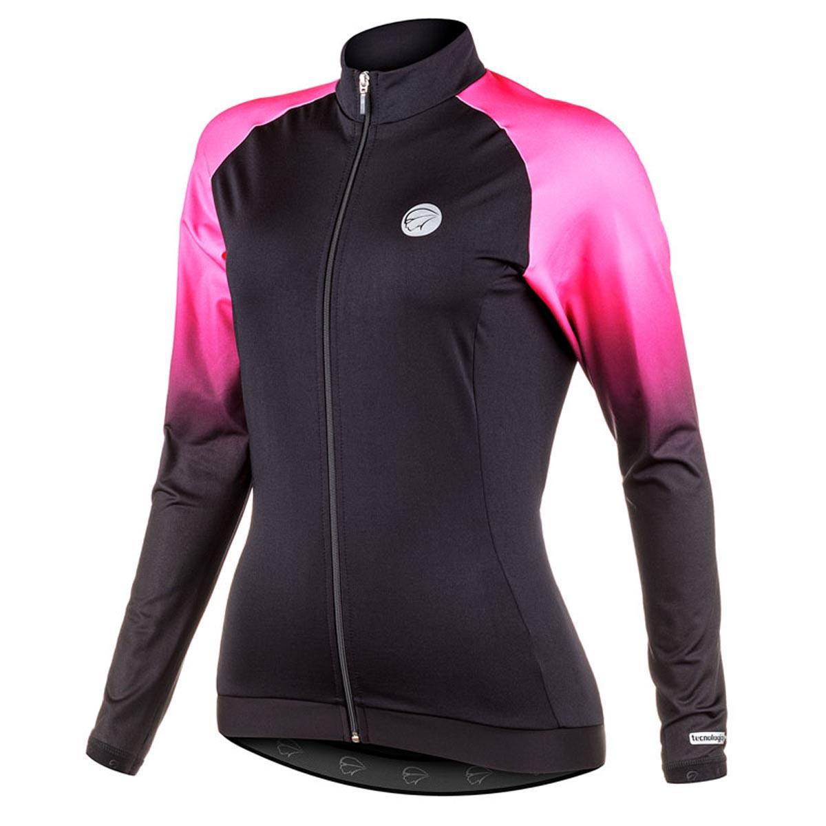 Jaqueta Mauro Ribeiro Feminina Intense Pink e Preta Ciclismo 21