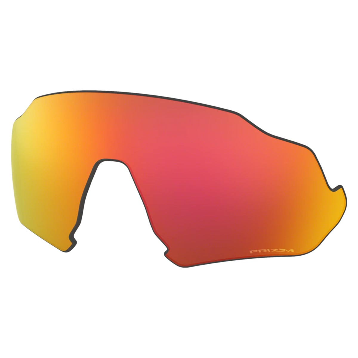 Lente Extra Para Oculos Oakley Flight Jacket Prizm Trail Torch Espelhada Vermelha