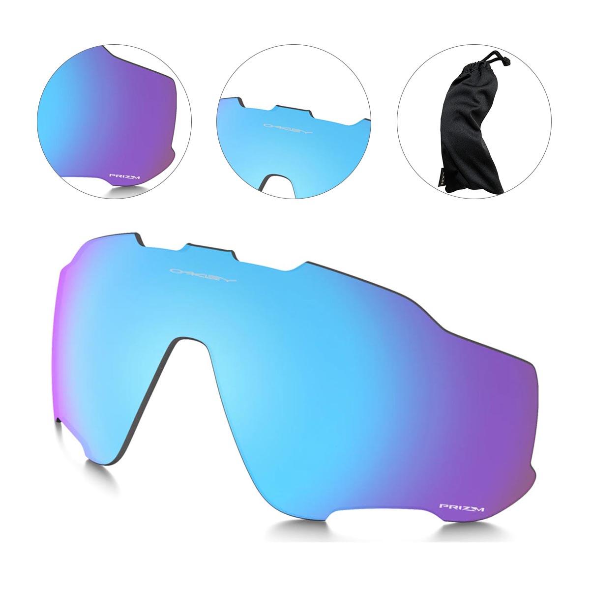 Lente Extra Para Oculos Oakley Jawbreaker Prizm Sapphire Polarizada Azul