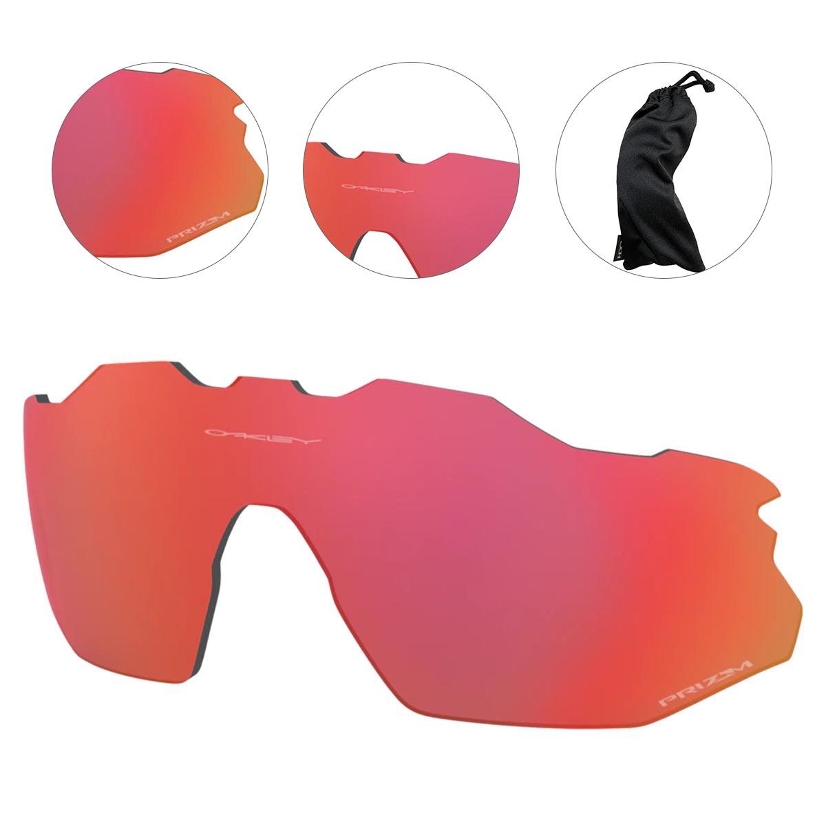 Lente Extra Para Oculos Oakley Radar Ev Advancer Prizm Trail Torch Espelhada Vermelha