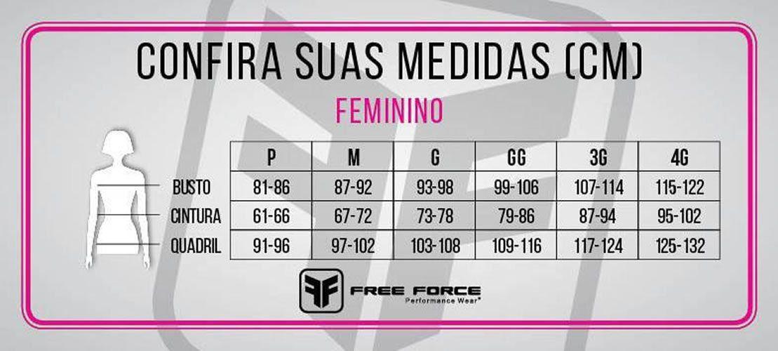 MACAQUINHO FREEFORCE FEMININO SPORT SOUND PRETO E CINZA COM FOIL DOURADO