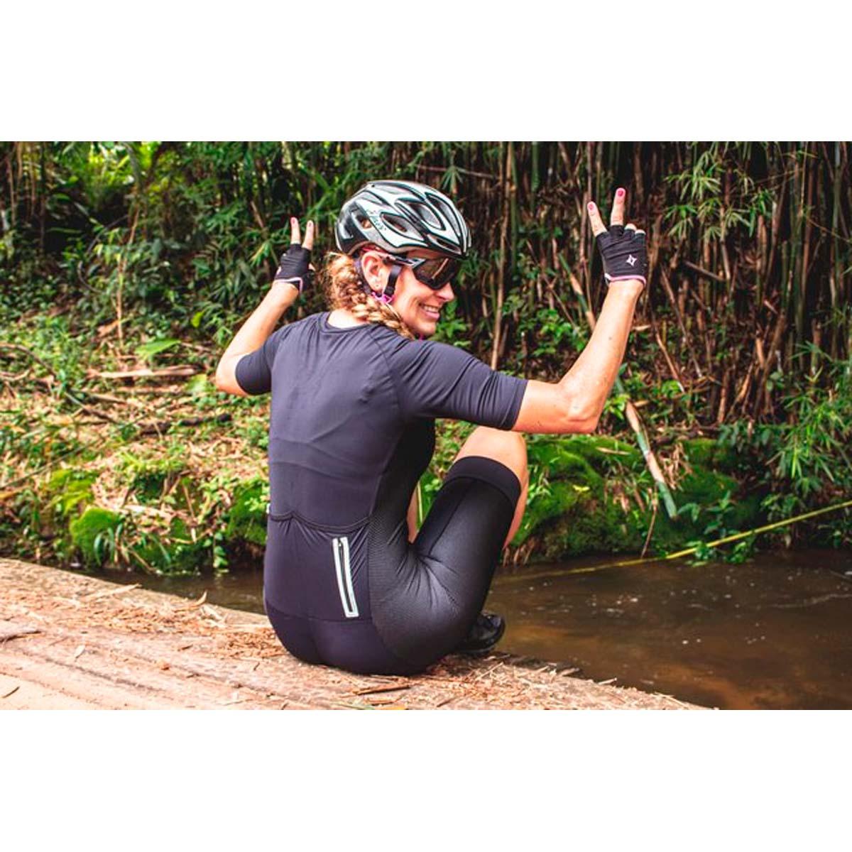 Macaquinho Marcio May Feminino Race Carbon Preto Ciclismo 21
