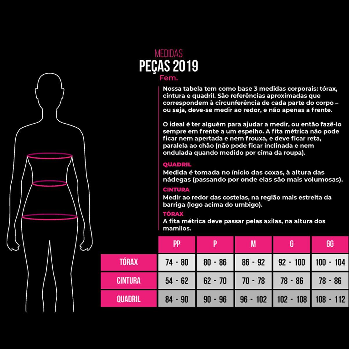 MACAQUINHO WOOM FEMININO TRIATHLON COM MANGA FANTASY ROSA PRETO E BRANCO 20