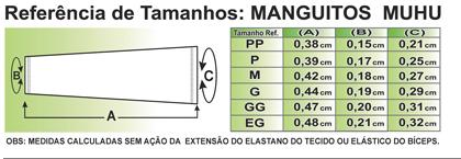 MANGUITO MUHU BIKE SOLID PRETO E BRANCO