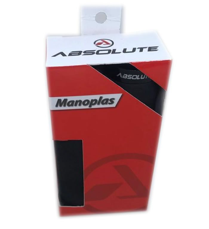 MANOPLA ABSOLUTE F444 ESPUMA PRETA COM TRAVA PRETA 128MM