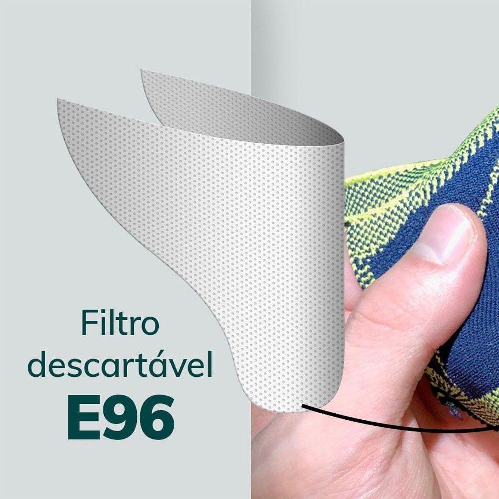 MASCARA DE PROTECAO FIBER KNIT CINZA TECNOLOGIA 3D LAVAVEL COM FILTRO