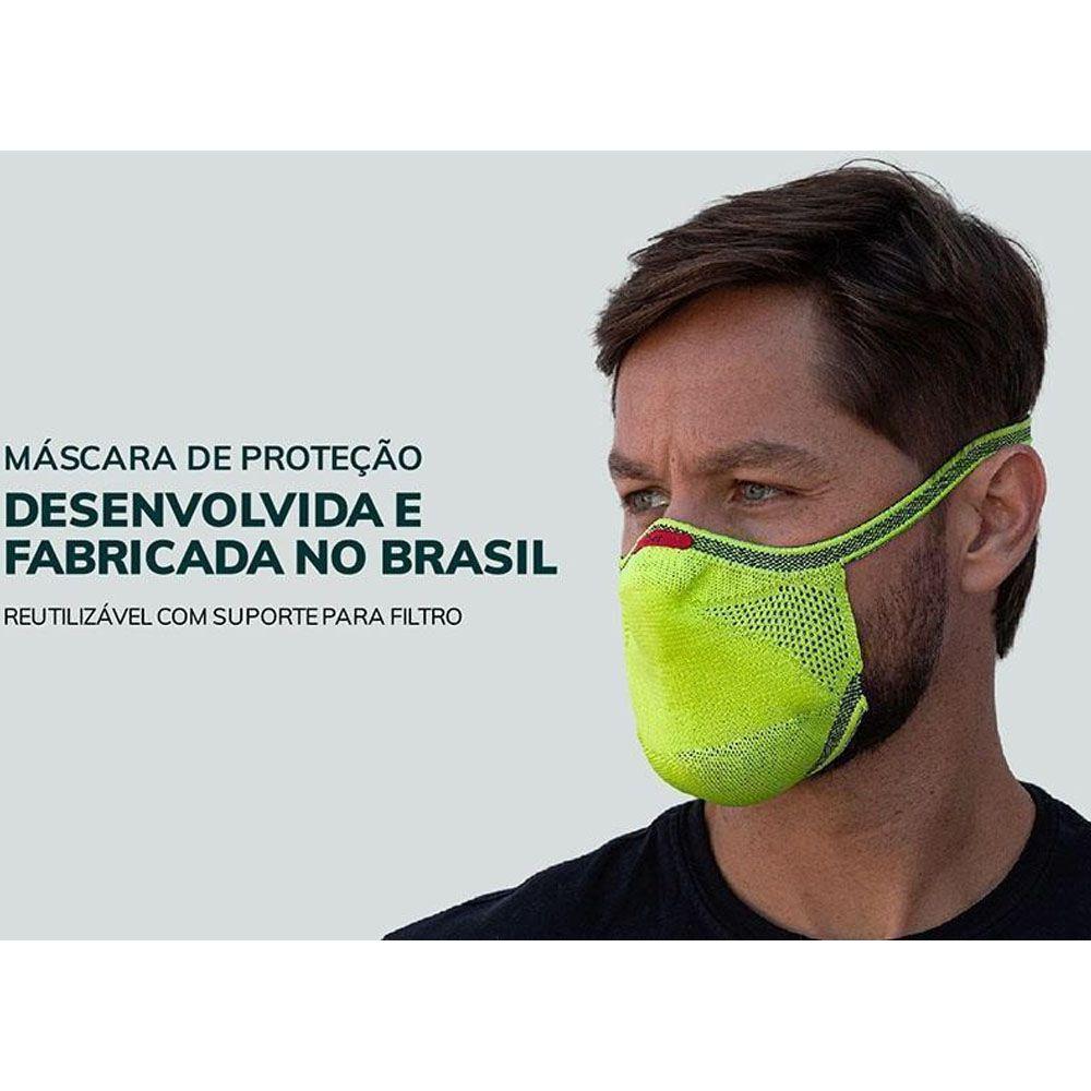 MASCARA DE PROTECAO FIBER KNIT FLUOR  TECNOLOGIA 3D LAVAVEL COM FILTRO