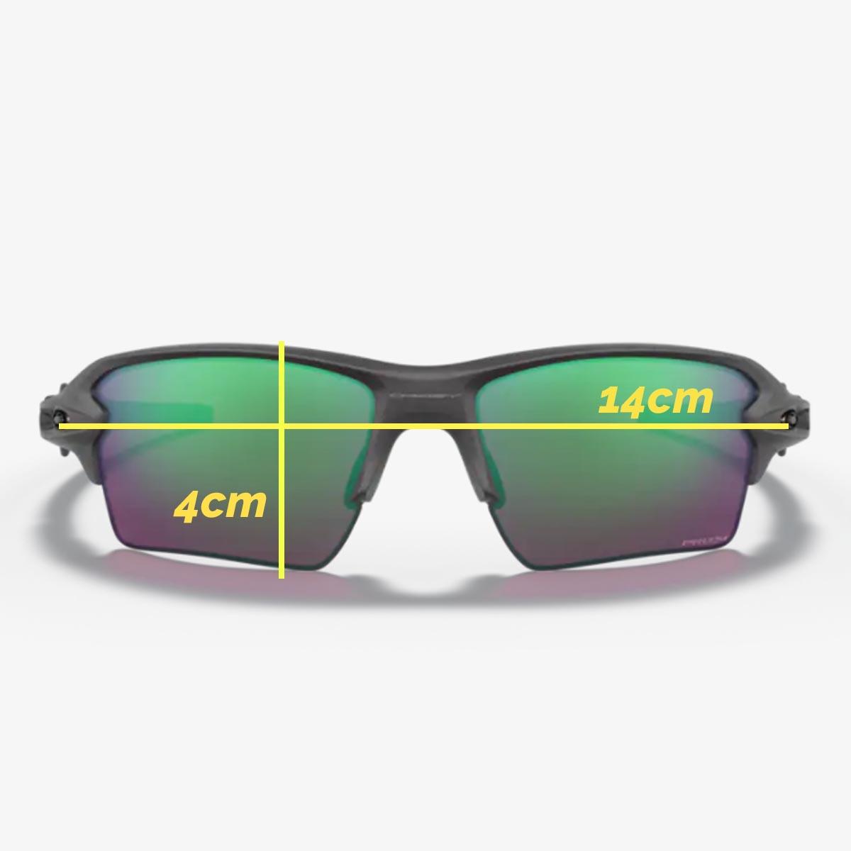 Oculos Para Ciclismo Oakley Flak 2.0 XL Cinza Steel Com Lente Prizm Road Jade