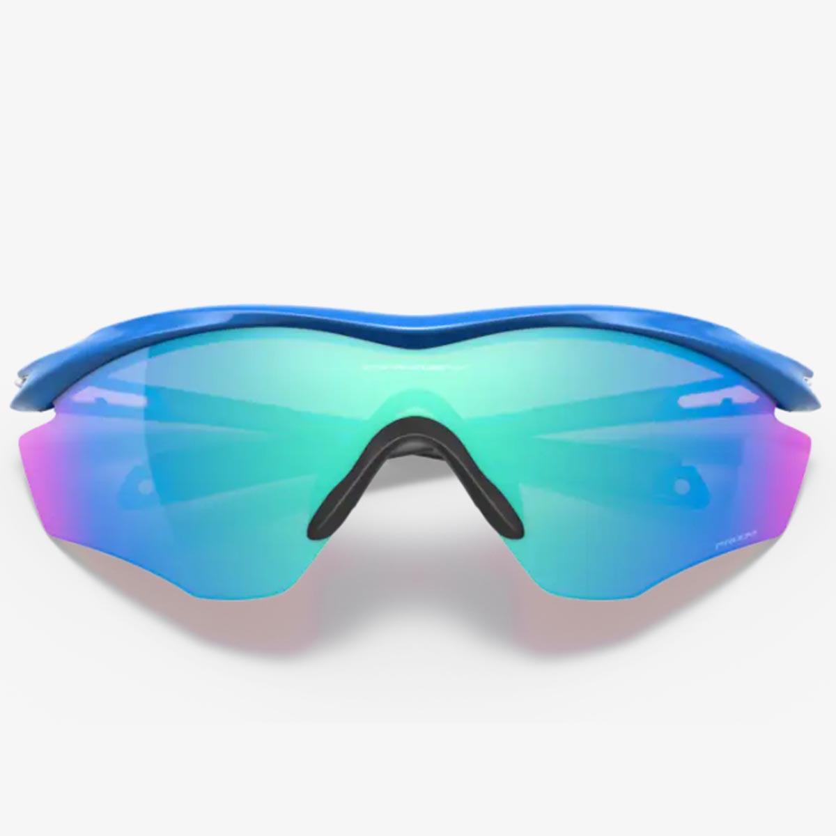 Oculos Para Ciclismo Oakley M2 Frame XL Azul Com Lente Prizm Sapphire Espelhada Azul