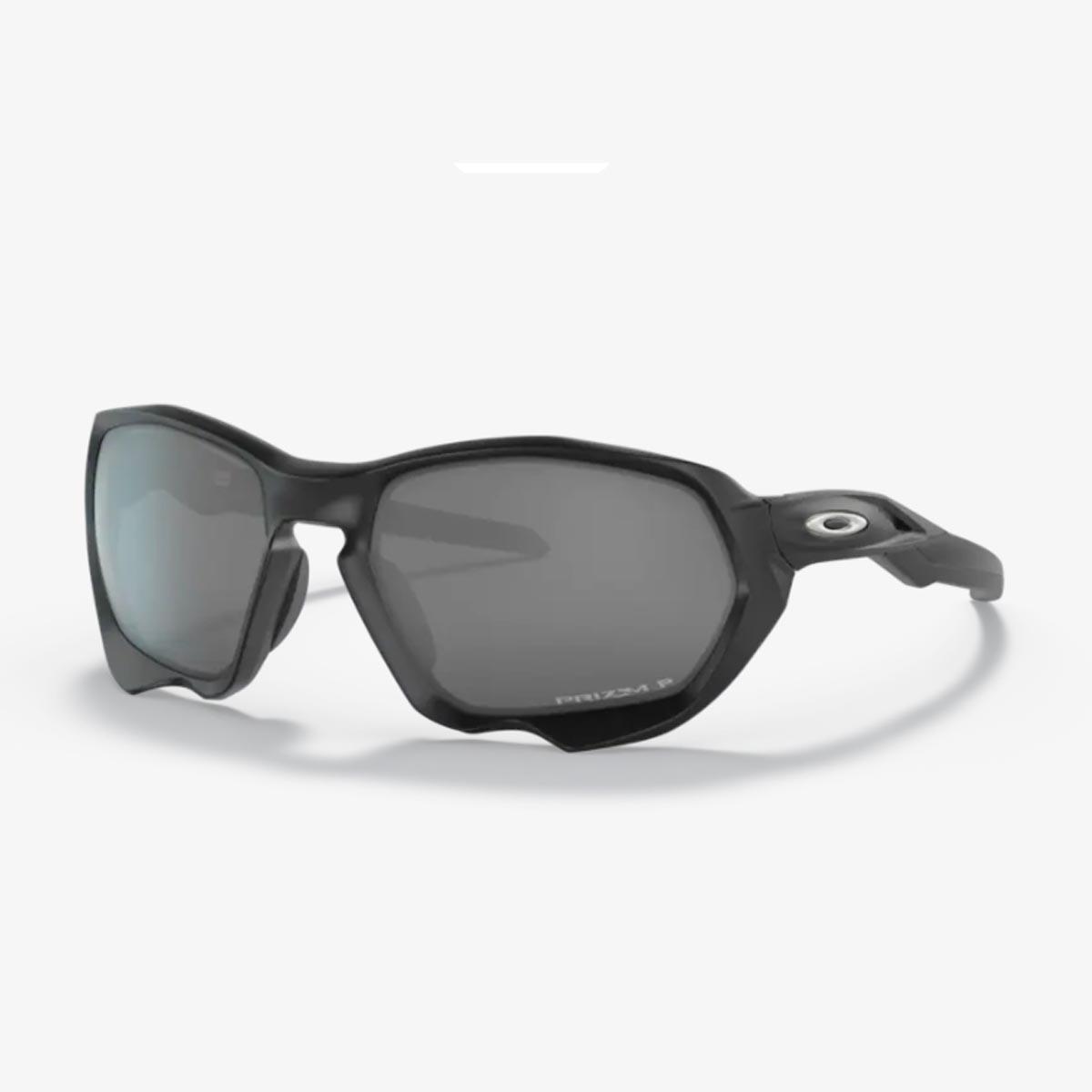 Oculos Para Ciclismo Oakley Plazma Preto Fosco Com Lente Prizm Escura Polarizada