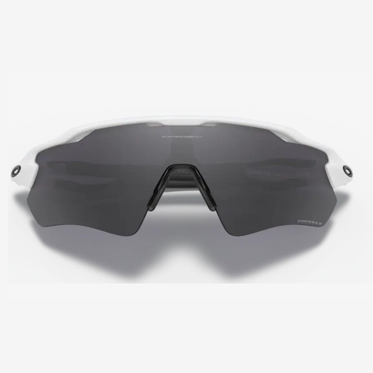 Oculos Para Ciclismo Oakley Radar Ev Path Branco e Preto Com Lente Prizm Black Escura Polarizada