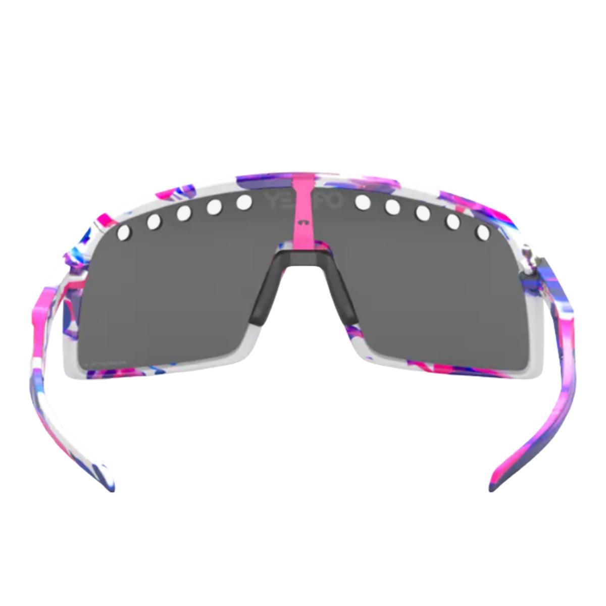 Oculos Para Ciclismo Oakley Sutro Branco Roxo e Rosa Eyeshade Kokoro com Lente Prizm Black Escura
