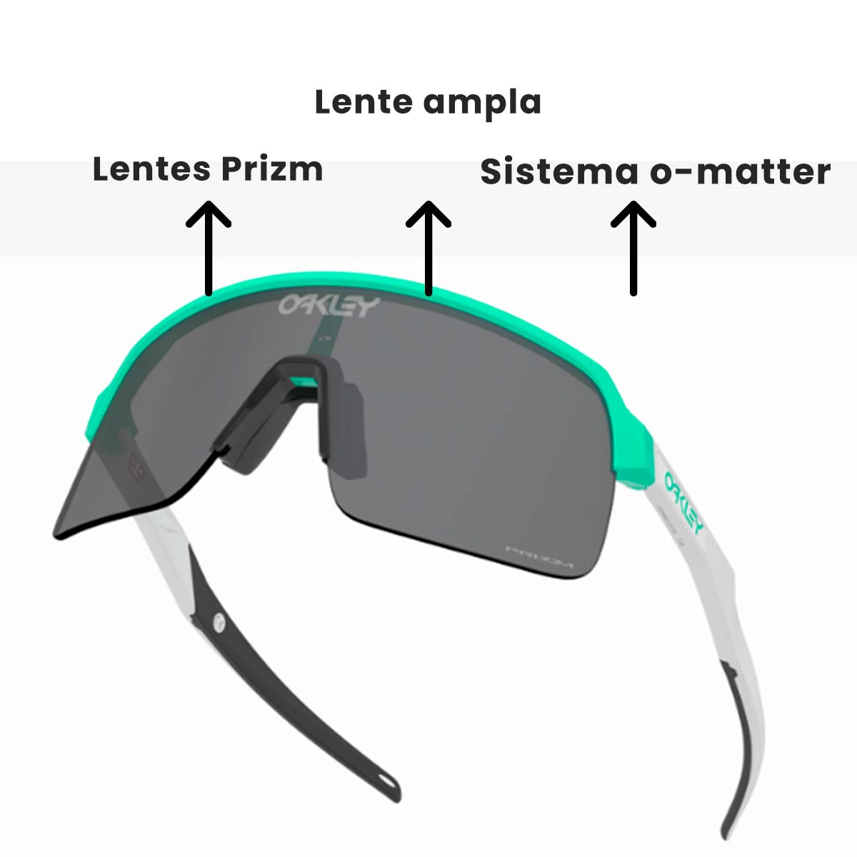 Oculos Para Ciclismo Oakley Sutro Lite Celeste Fosco com Lente Prizm Black Escura
