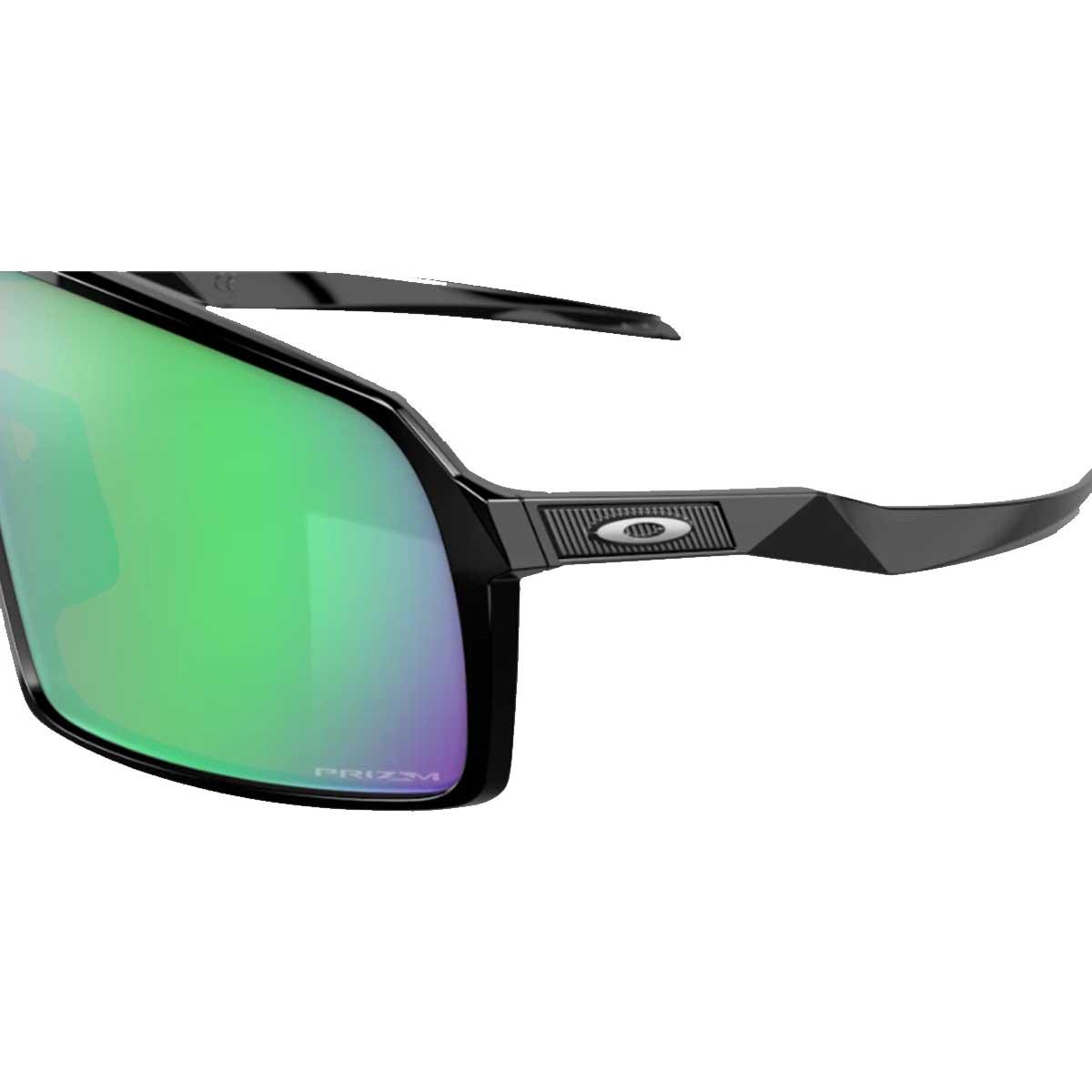 Oculos Para Ciclismo Oakley Sutro Lite Preto Fosco com Lente Prizm Road Jade Espelhada Verde