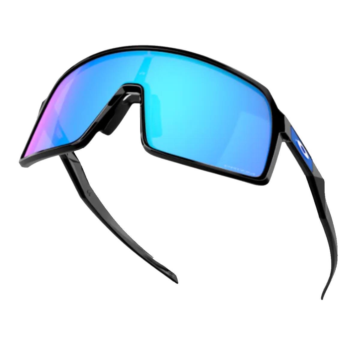 Oculos Para Ciclismo Oakley Sutro Preto com Lente Prizm Sapphire Espelhada Azul