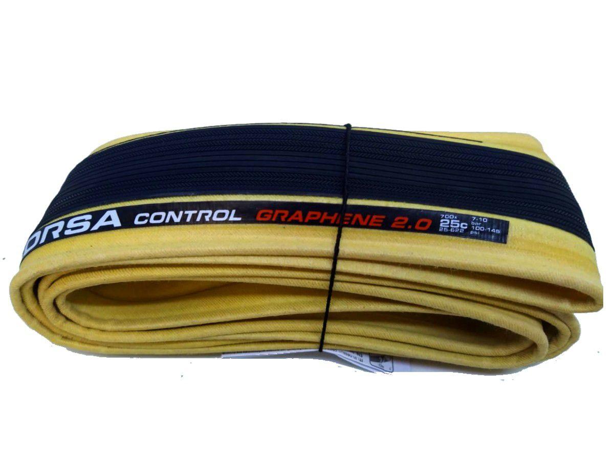 PNEU 700X25 VITTORIA CORSA CONTROL KEVLAR GRAFENO 2.0 BORDA BEGE SPEED 320 TPI (11A00104)
