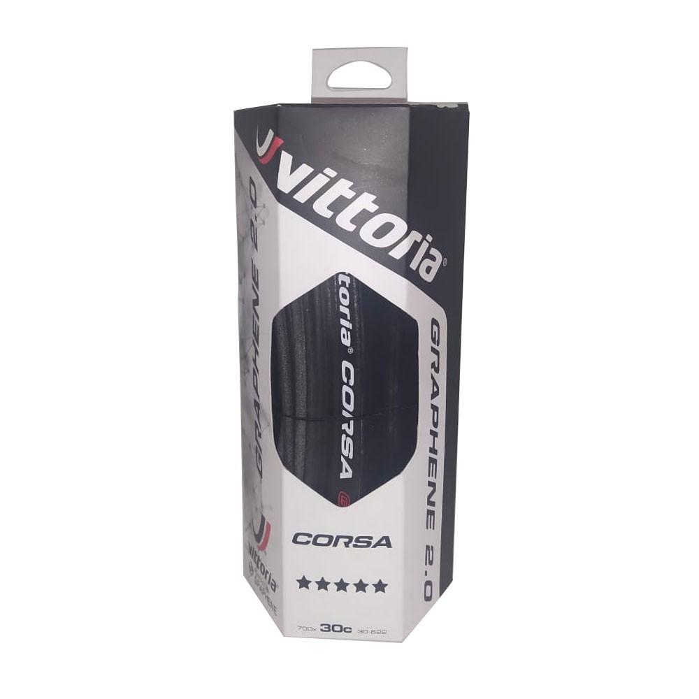 PNEU 700X30 VITTORIA CORSA GRAFENO G2.0 PRETO/PRETO 320 TPI DOBRAVEL KEVLAR 11A00220