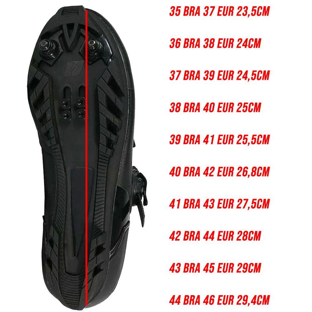 SAPATILHA MTB MATTOS RACING NEW TTR 20 PRETA CATRACA E VELCRO