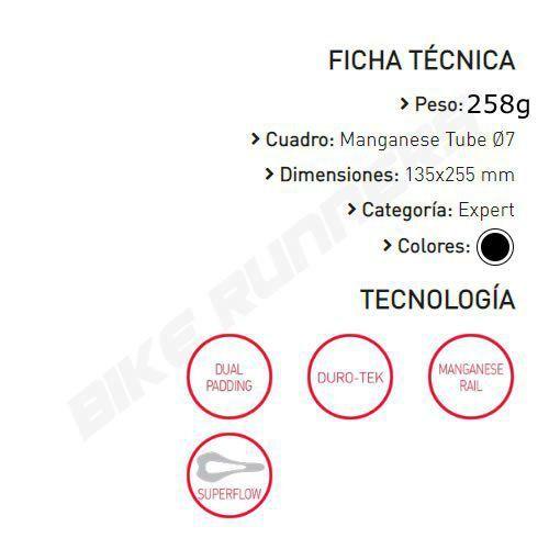 SELIM SELLE ITALIA NOVUS BOOST TM SUPERFLOW S3 TRILHO MANGANES PRETO 255G.