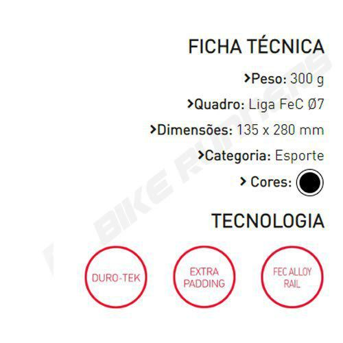 SELIM SELLE ITALIA X1 X-CROSS S1 TRILHO AÇO PRETO 300G.